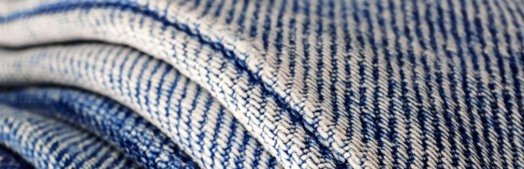 Close up of denim fabric