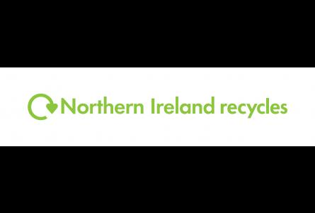 Northern Ireland Recycles with green swoosh